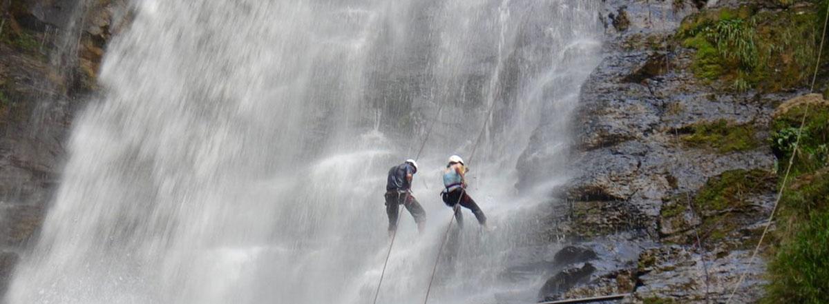 Cascadas en Santander - Rapel en San Gil